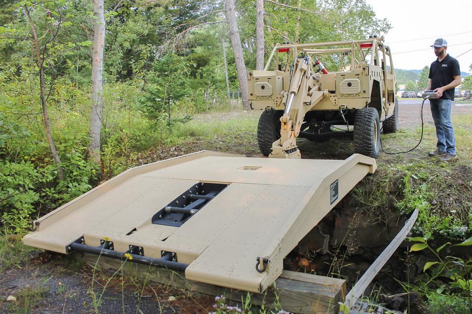 Ultralight Tactical Bridge set in place